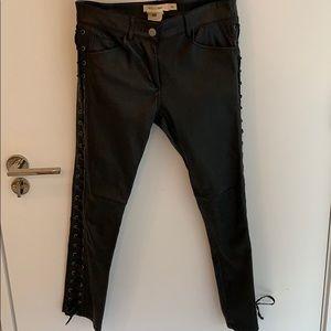Isabel marant h&m leather lace up pants 4